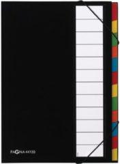 Pagna sorteermap voor ft A4, 12 compartimenten, zwart