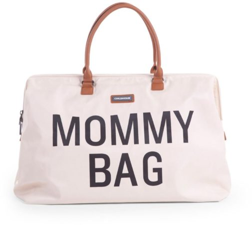 Afbeelding van Beige Childwheels Childhome - Mommy bag groot - ecru