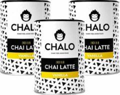 CHALO Indian Vanilla Chai Pakket - Zwarte Assam thee - 3 x 300GR