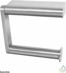 Roestvrijstalen PROOX WC roll holder single execution of stain brushed stainless steel surface mounting