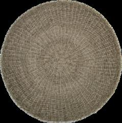 Naturelkleurige HSM Collection Vloerkleed - ø120 cm - raffia/zeegras - naturel