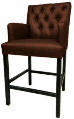 Bruine Bankstyle - Style & Luxury Gecapitonneerde design barstoel in verschillende kleuren. Kleur: Brown