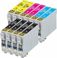 Cyane MediaHolland Huismerk Cartridges voor Epson T1281 t/m T1284 Set 10 stuks