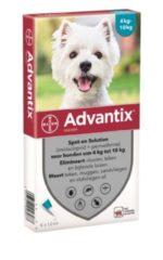 Advantix Spot On 100 1 ml - Anti vlooien en tekenmiddel - 6 pip 4-10kg