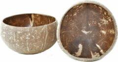 Bruine Floz Design Set van 2 - coconut bowl - kokosnoot kom - 11 cm - fairtrade uit Vietnam