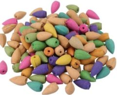 Joily's healthshop Terugstroom wierookkegels (valwierook) 115 gram +/-50 stuks