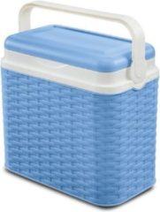 VDM Koelbox Rotan blauw 24 ltr incl 2 koelelementen