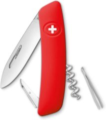 Rode SWIZA D01 KNI.0010.1000 Zwitsers zakmes softtouch Aantal functies: 6 Rood