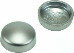 GoodlineNL 10 stuks - Afdekkapjes voor schroeven - 16mm - Mat Chroom