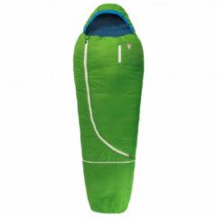 Grüezi Bag - Biopod Wolle Kids World Traveller - Kinderslaapzak maat 140-180 x 65 x45 cm, groen