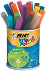 Bic Kids Viltstift Visacolor XL Ecolutions 18 stiften in een metalen pot