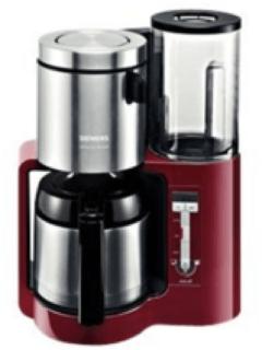 Rode Siemens Koffiezetapparaat Sensor for Senses, met edelstalen thermoskan, zwart/antraciet