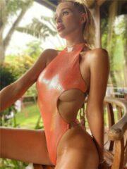 Oranje Merkloos / Sans marque Badpak Shiny Beach girl (S)