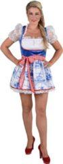 Holland Sexy dirndl met opdruk van Delfts blauwe tegeltjes | Oktoberfest kleding dames maat M (38/40)