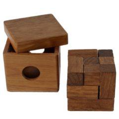 Bruine Longfield Games Iq-puzzel Brain Teaser Kubus 7 X 7 Cm