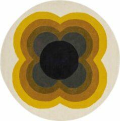 Orla Kiely - Sunflow Yellow 60006 Vloerkleed - 200 cm rond - Rond - Rond Tapijt - Retro - Meerkleurig