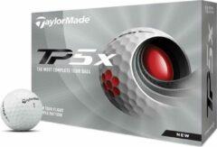 Witte TaylorMade TP5x Golfballen 2021 - Dozijn / 12 stuks