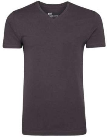Afbeelding van Grijze WE Fashion Fundamental slim fit T-shirt