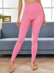 Roze Fancylegs Honey Legging Pink size L - Sport legging / Yoga legging - Anti Cellulite - Fitness legging - Workout Legging