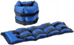 RS Sports verstelbare manchetten l nylon l 2x 2.250 kg l blauw zwart