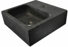 Korver Holland Wiesbaden B-stone hardstenen fontein vierkant 30x30x10 cm, zwart