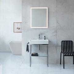 Duravit Composizione bagno DuraSquare con struttura metallica e specchio