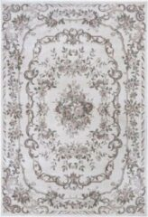 Tapeso Klassiek vloerkleed Aubusson Flore - crème/roze 160x230 cm