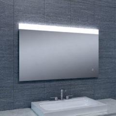 Douche Concurrent Badkamerspiegel Single 100x60cm Geintegreerde LED Verlichting Verwarming Anti Condens Touch Lichtschakelaar Dimbaar