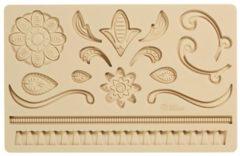 Beige Wilton Fondant & Gum Paste Mold Lace / Kant