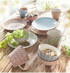 Keramik-Becher-Set, 4-tlg. Retro miaVILLA bunt