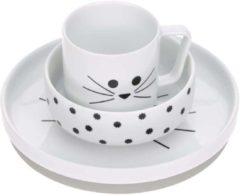 Lässig Servies set porselein en Siliconen Little Chums Cat
