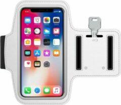 AYME Universele hardloop telefoonhouder armband – Telefoonhouder hardlopen universeel - Geschikt voor telefoons van 13cm t/m 15cm – Wit
