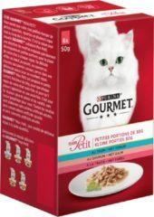 Gourmet Mon Petit - Tonijn, Zalm en Forel - Kattennatvoer - 4x (6 x 50 g)