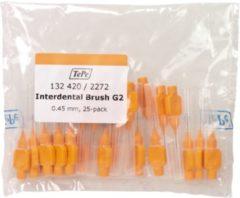 TePe Oranje 25 stuks - Interdentale ragers origineel -0,45 mm - Ragers - Voordeelverpakking