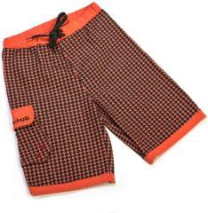 Oranje Ducksday UV zwembroek jongen Houndstooth - 10 jaar