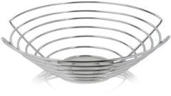 Zilveren Blomus Wires fruitschaal van metaal 36 cm