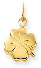 Goudkleurige Classics&More Glow Gouden Bedels Klaver - 10 mm
