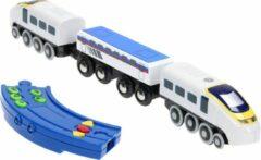 Blauwe Base Toys Elektrische Trein met Afstandsbediening