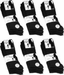 Naft 100% Katoen sokken met rib 10 paar (zwart) 39-42