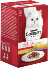 Purina Gourmet Mon Petit Duo Vlees - Rund, Kip en Gevogelte - Kattenvoer - 6 x 50 g