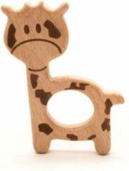 Bruine (kleine) Durable Houten Bijtring Giraf