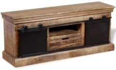 VidaXL Tv-meubel met 2 schuifdeuren 110x30x45 cm massief mangohout