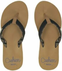 Zandkleurige Reef Cushion Sands Sandals zwart