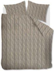 Zandkleurige Beddinghouse Lano - Flanel - Dekbedovertrek - Eenpersoons - 140x200/220 cm + 1 kussensloop 60x70 cm - Sand
