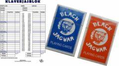 Haza 1x Scoreblokken Klaverjassen 50 vellen met speelkaarten - Kaartspellen - Familiespelletjes - Klaverjassen score notitieblok