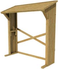 Bruine Woodvision - Haardhoutberging Aster - Grenen - 157/180x183x74 cm