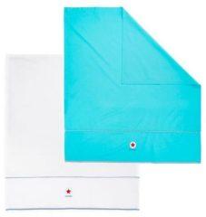 Lief! Lifestyle Lief Lifestyle! ledikantlaken 100x150 cm blauw/wit (2 stuks)