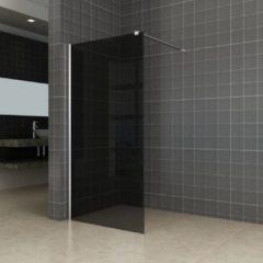 Aqua Splash AQS Inloopdouche Pro Line Rookglas 8mm Nano Coating RVS Profiel en Stang (ALLE MATEN)