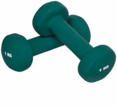 Zwarte Gorilla Sports Vinyl Dumbbells 2 kg (2 x 1 kg) voor aerobic training