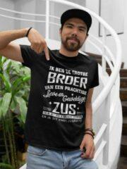 Zwarte Passie voor Stickers T-shirt XXXL met tekst: Ik ben de trotse Broer van een prachtige lieve en geweldige Zus en ja, dit heb ik van haar gekregen en ja, dit vind zij grappig